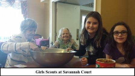 Girls Scouts with Seniors at  Bartow, FL