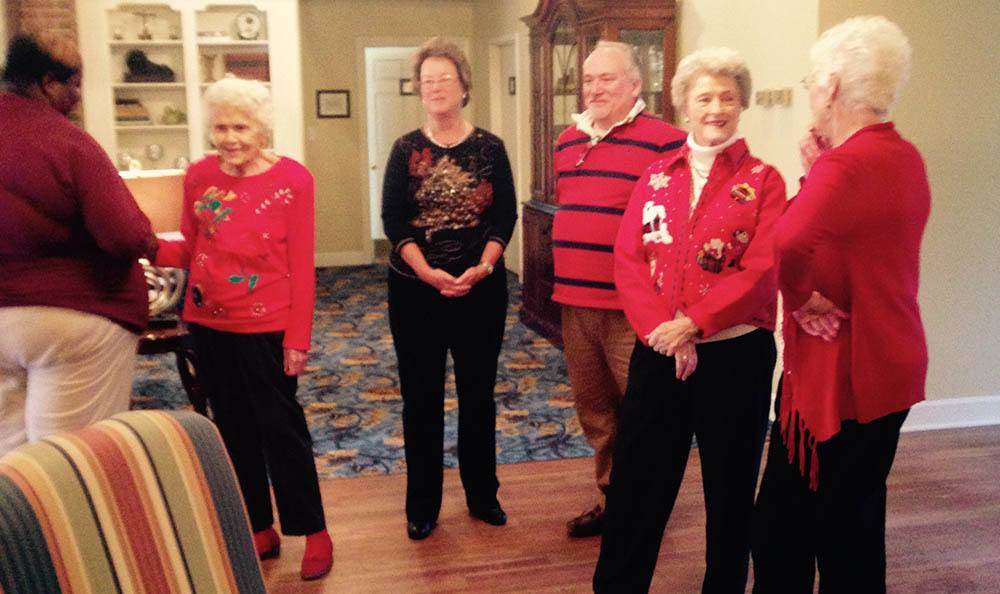 Christmas party at senior living in GA