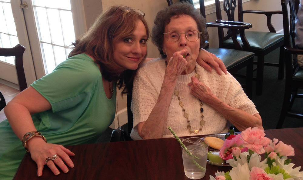 Resident and caregiver at Savannah Court of Camilla