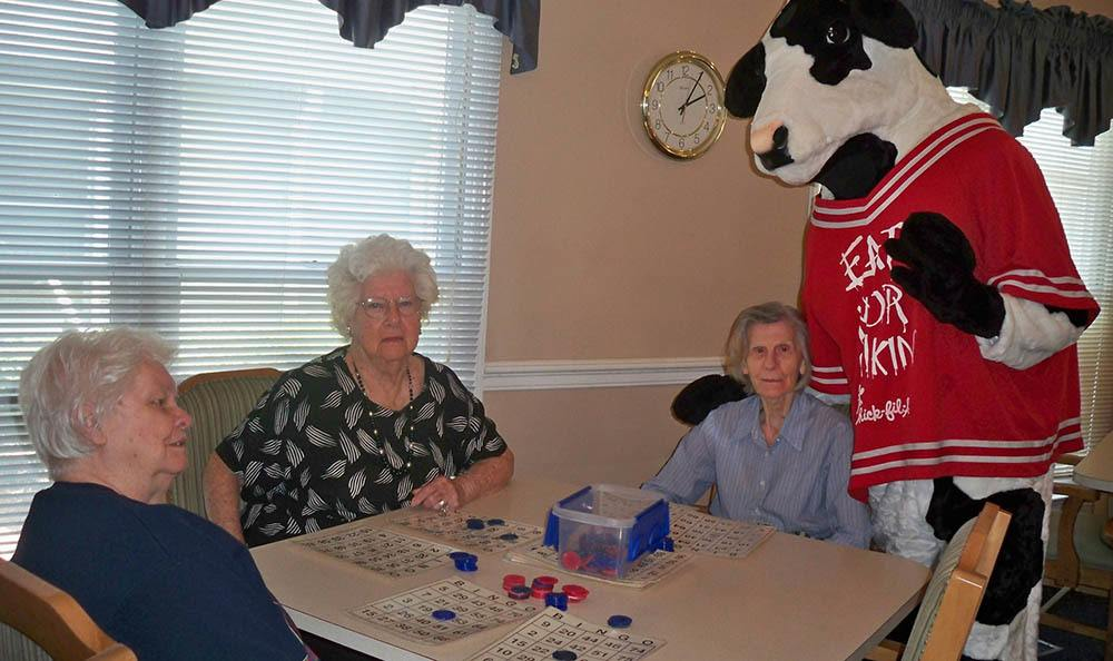 Bingo at senior living in Milledgeville