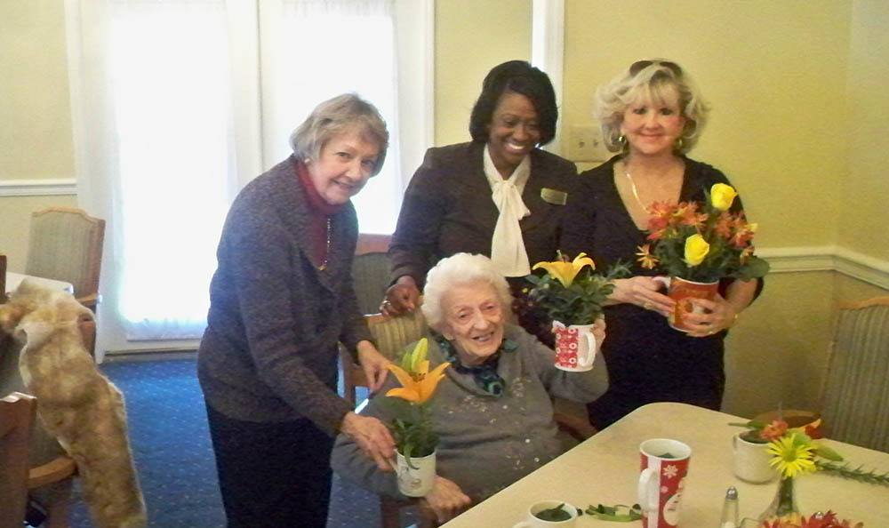 The garden club at Savannah Court of Milledgeville