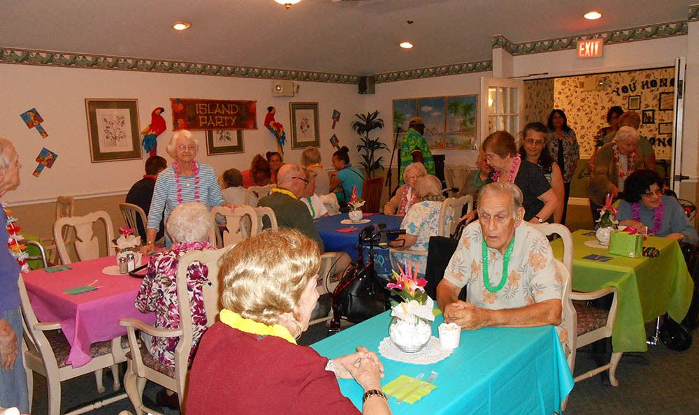 Hawaiian festivities at senior living in Orange City