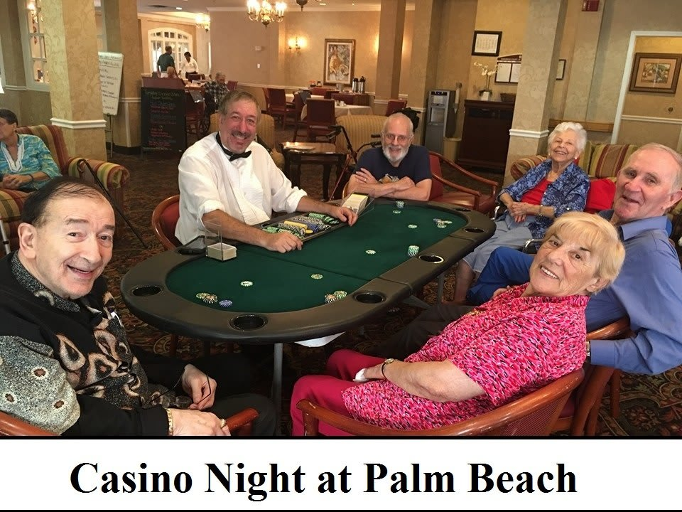 Casino night at Savannah Court of the Palm Beaches