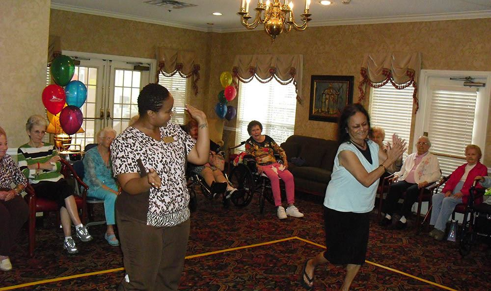 Dancing at senior living in West Palm Beach