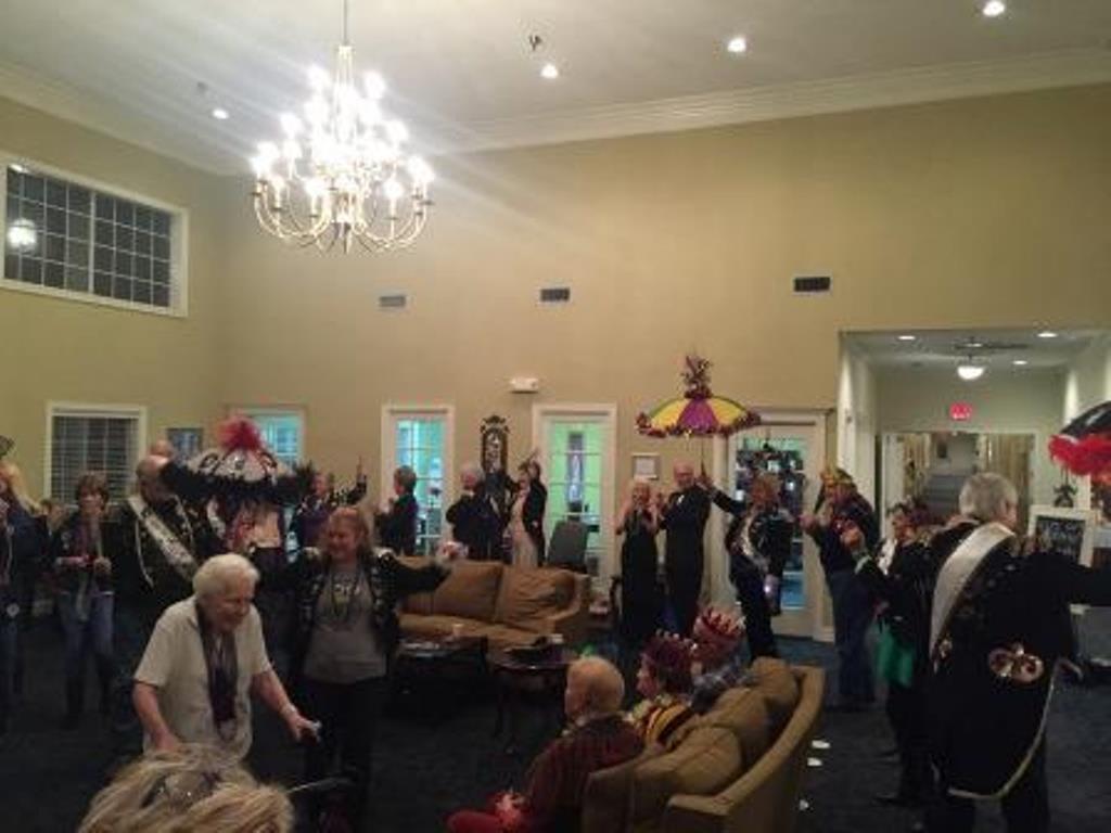 Mardi Gras at Savannah Grand of Bossier City Senior Living