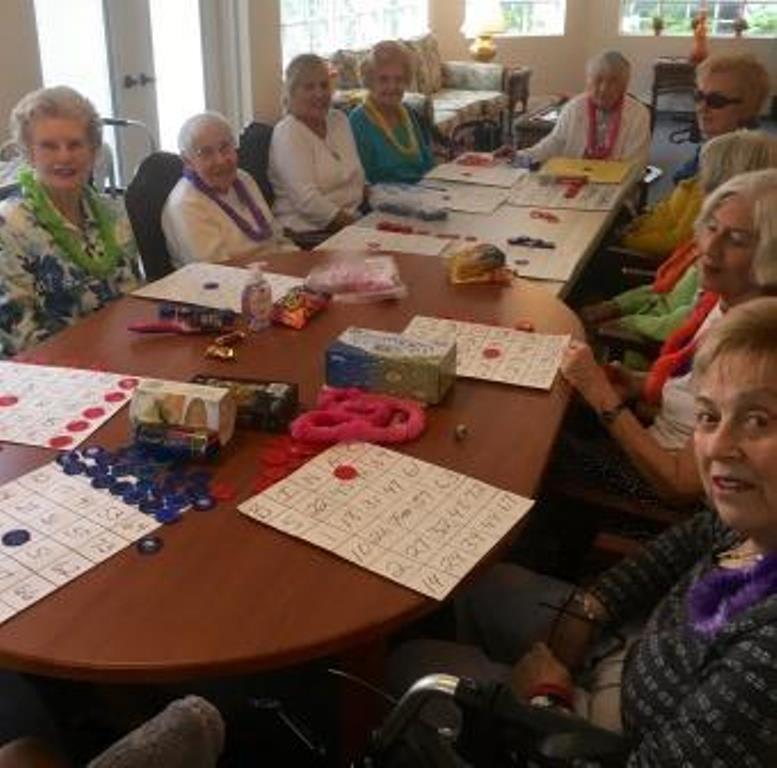 Bingo Party at Savannah Grand of Sarasota senior living