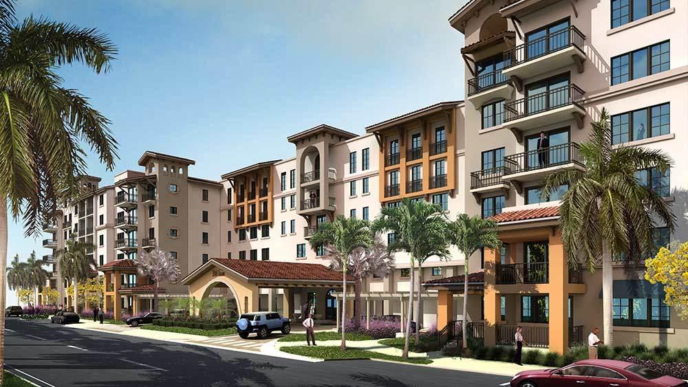 Rendering of 500 OCEAN Apartments during the day in Boynton Beach, FL