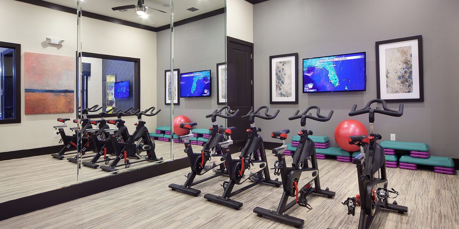 Getting and staying fit at Ancora Apartments in Orlando is a snap - we've got all the equipment you need to burn off calories and stress.