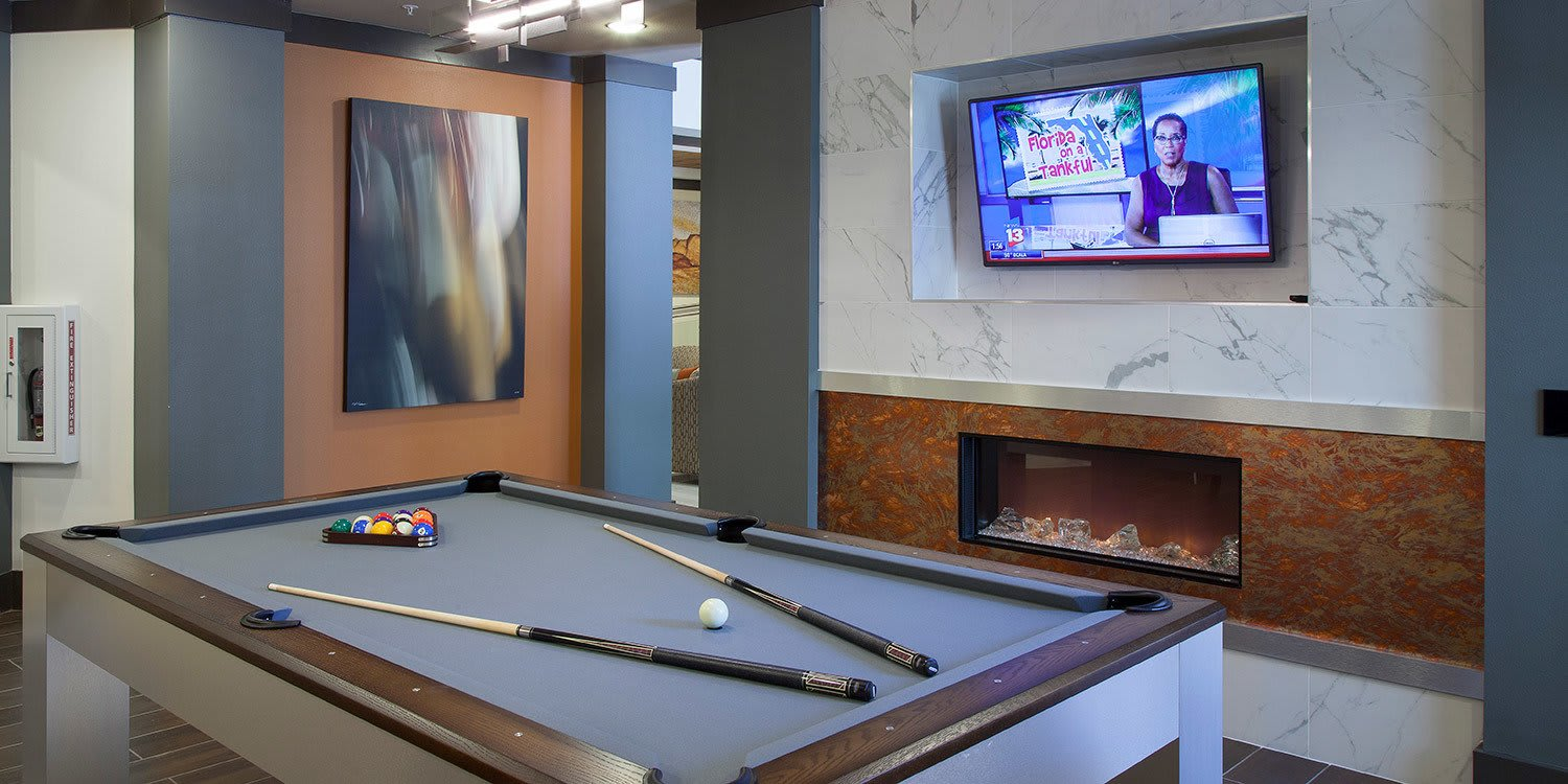 If billiards is your game, the clubhouse at Ancora Apartments has got you covered.