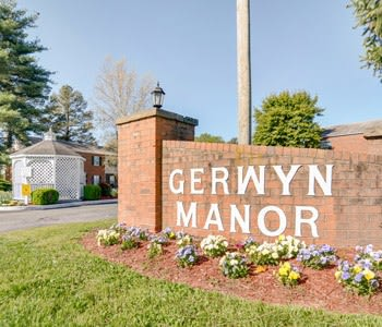 Front Entrance Sign of Gerwyn Manor