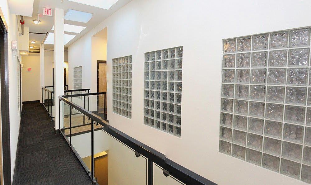 Corridor With Windows at Atrium on Broad