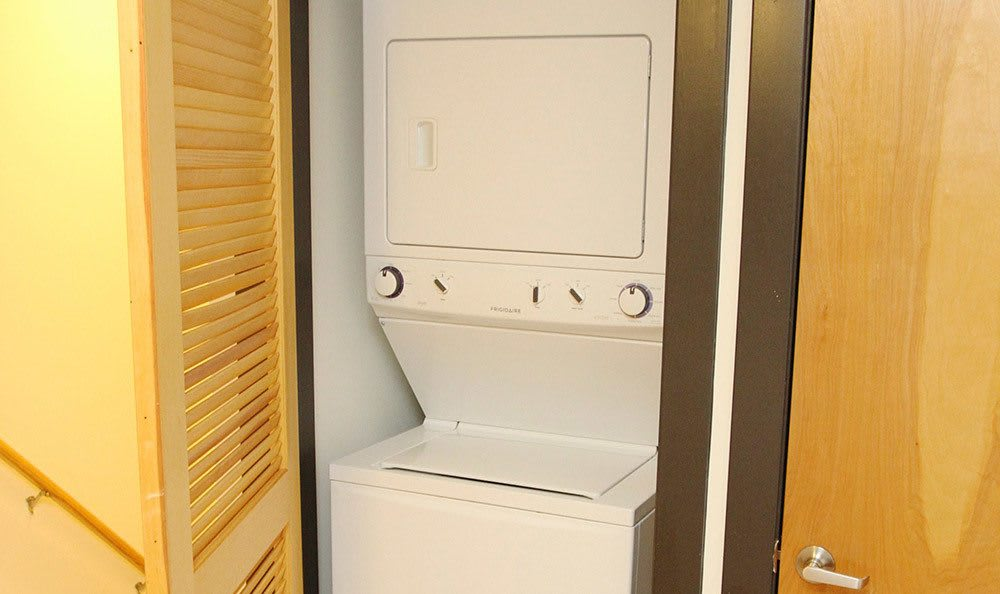 Washer And Dryer Combo Provided At Atrium on Broad