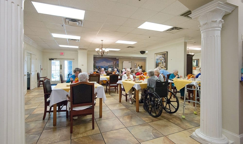 Dining Room at the Senior Living community in Baton Rouge