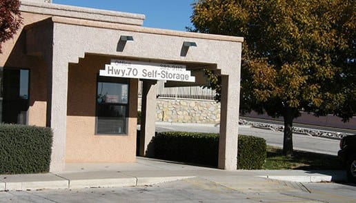Our front entrance at Highway 70 Self Storage in Las Cruces, NM