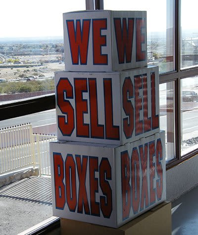 We sell boxes and more in the office at Highway 70 Self Storage in Las Cruces, NM