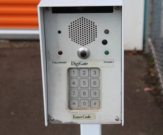 Safety keypads at self storage in Eugene