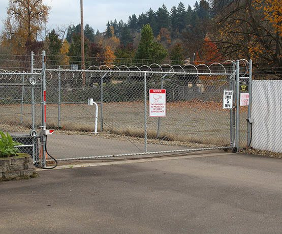 Security Gate at Eugene self storage