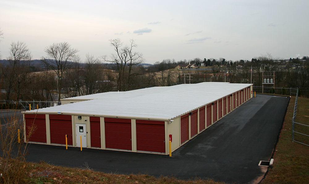 Aerial View of Storage World self storage units