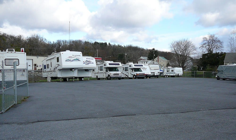 Our outdoor RV, Boat, and Car parking