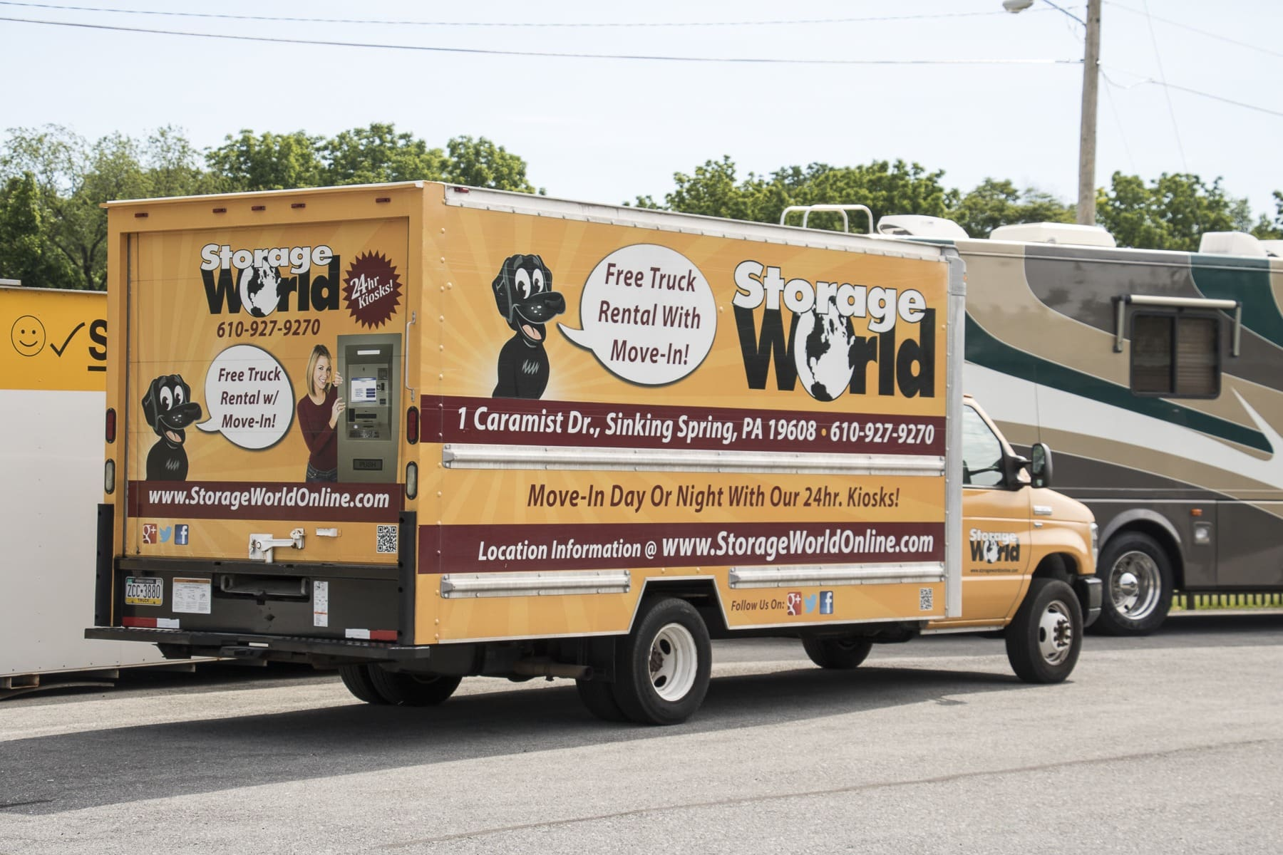 Free Truck Rental at Storage World Self Storage Units
