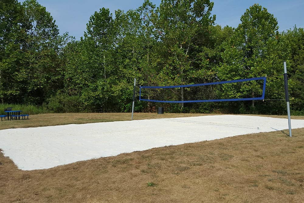 Beautifully Maintained Sand Volleyball Court At Our Student Apartments In Shippensburg Pa