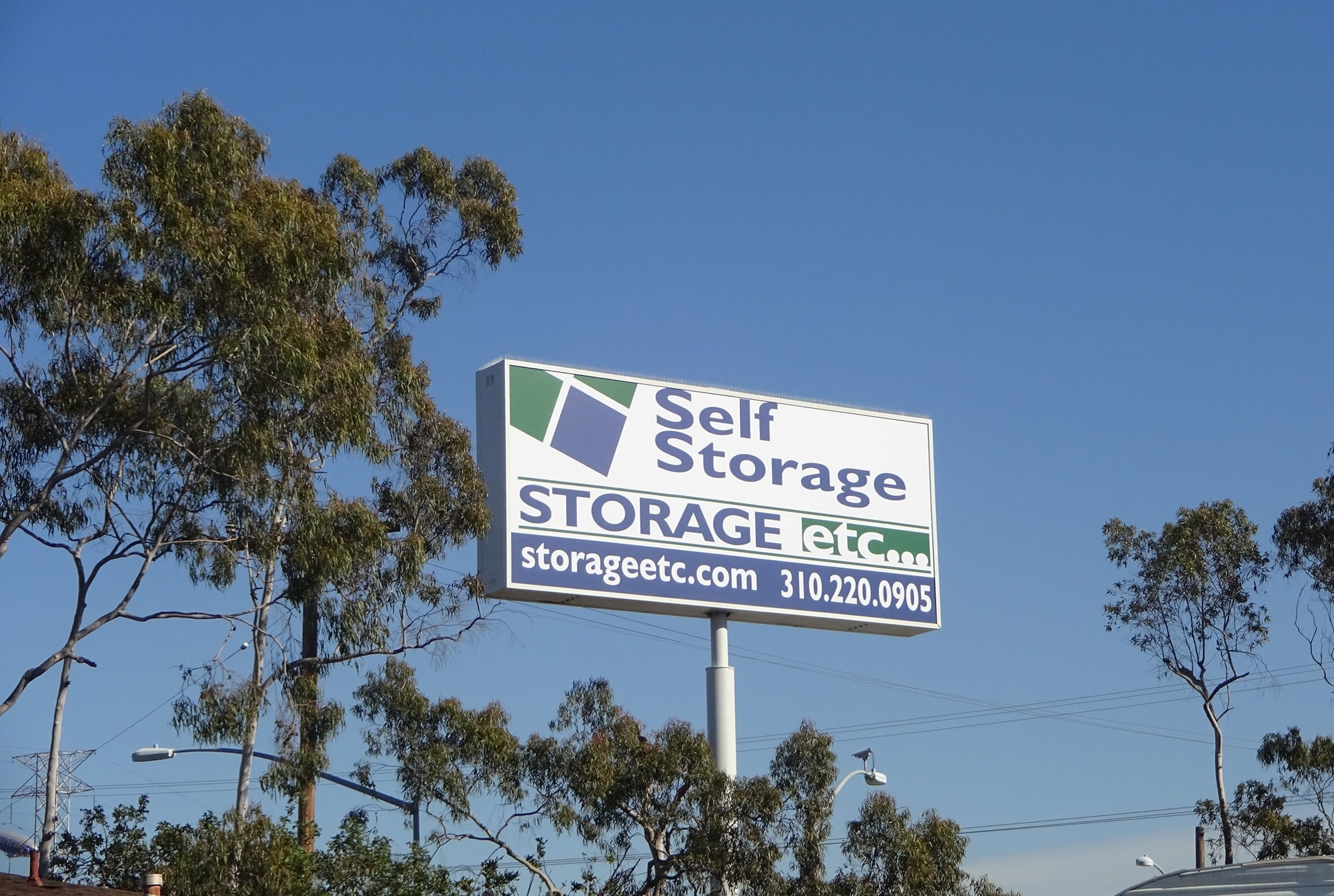 Welcome Sign at Storage Etc... Carson