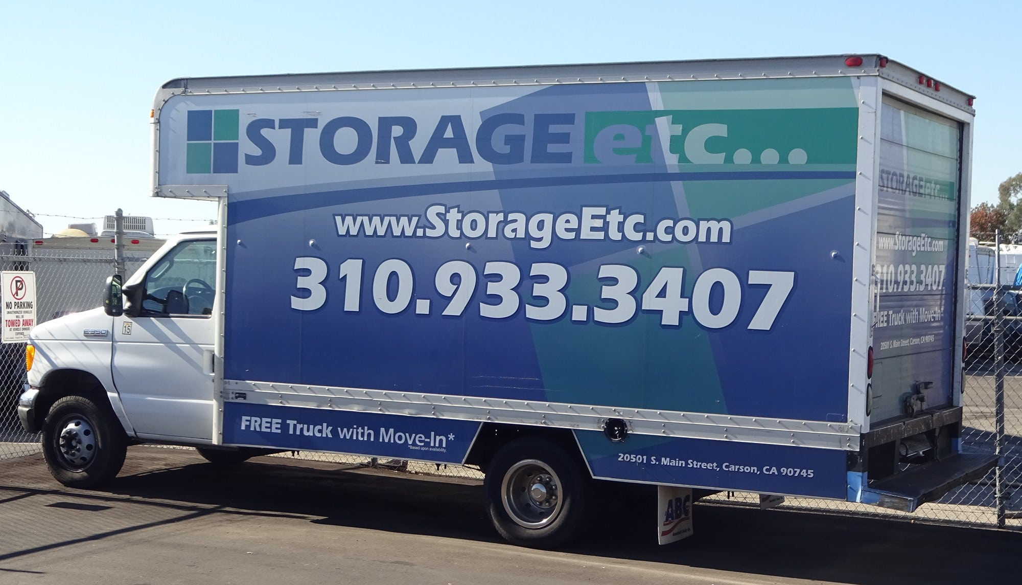 Rental Truck at Storage Etc... Carson