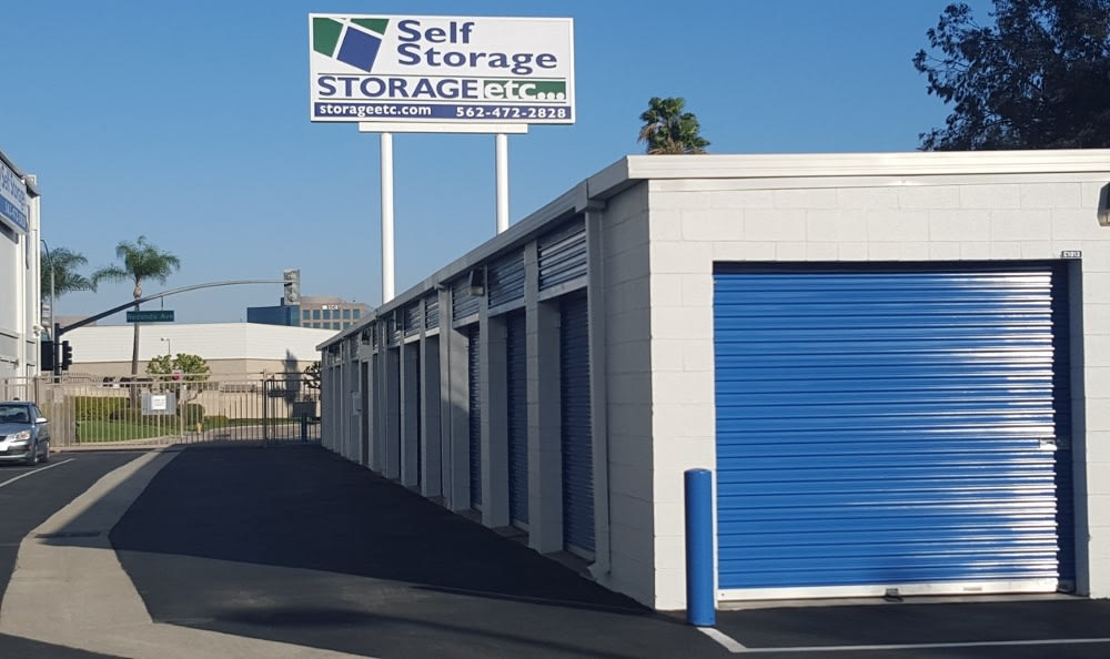 Outdoor Storage Units at Storage Etc... Long Beach