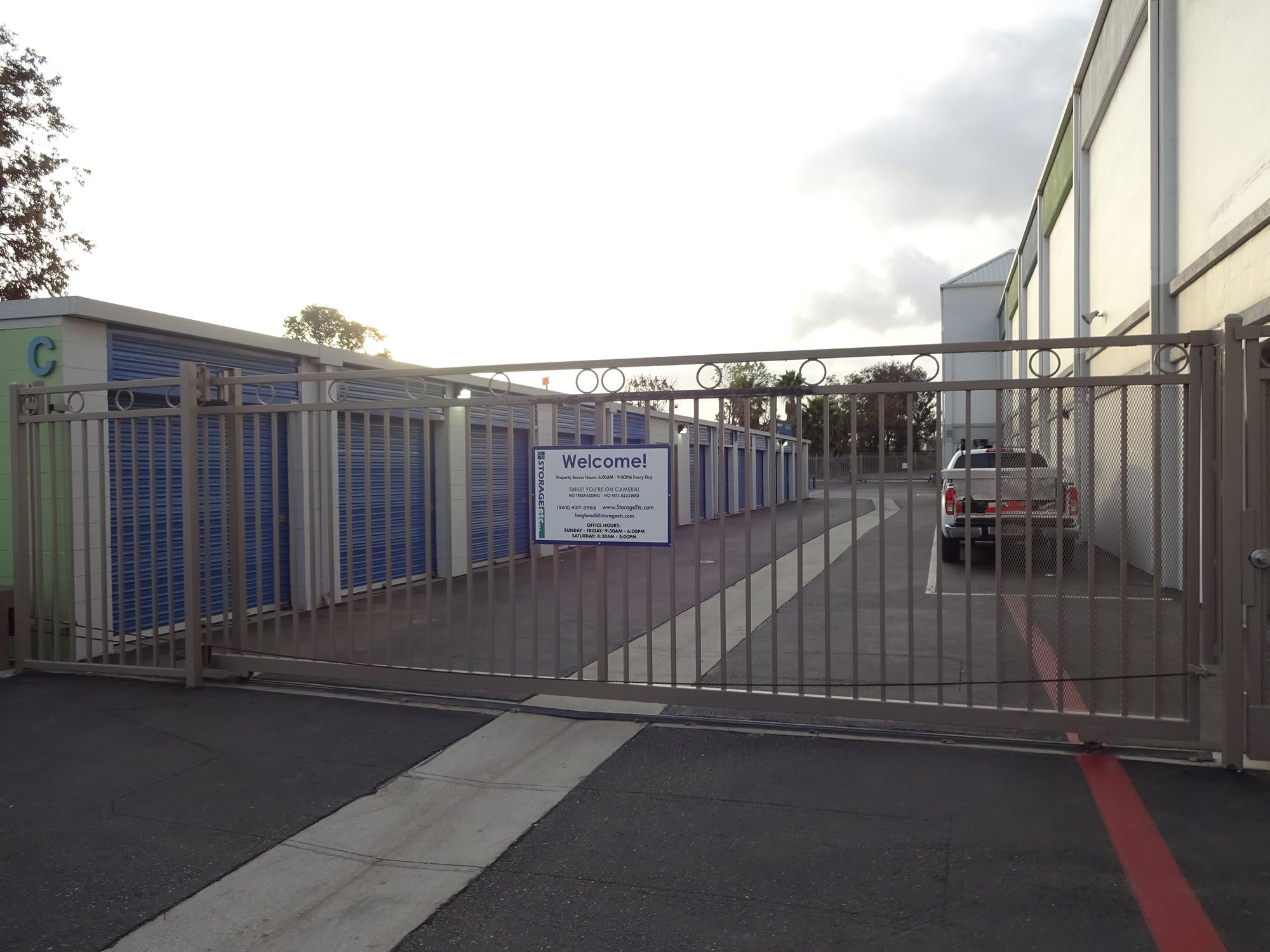 Secure Property Entrance at Storage Etc... Long Beach