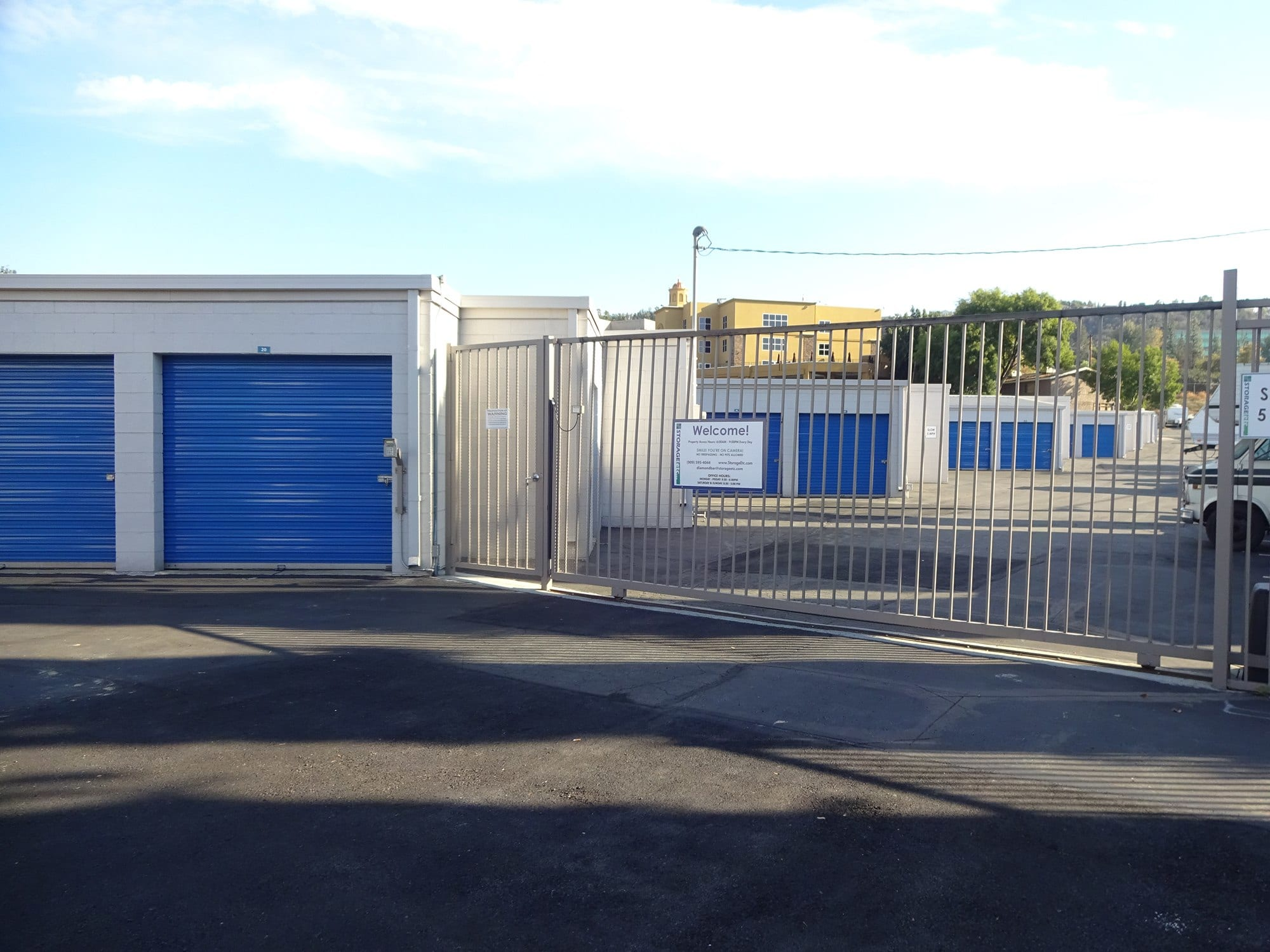 Secure Property Entrance at Storage Etc... Diamond Bar
