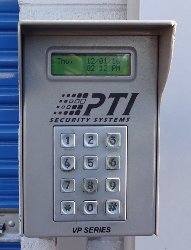 Security Keypad at Storage Etc... Diamond Bar