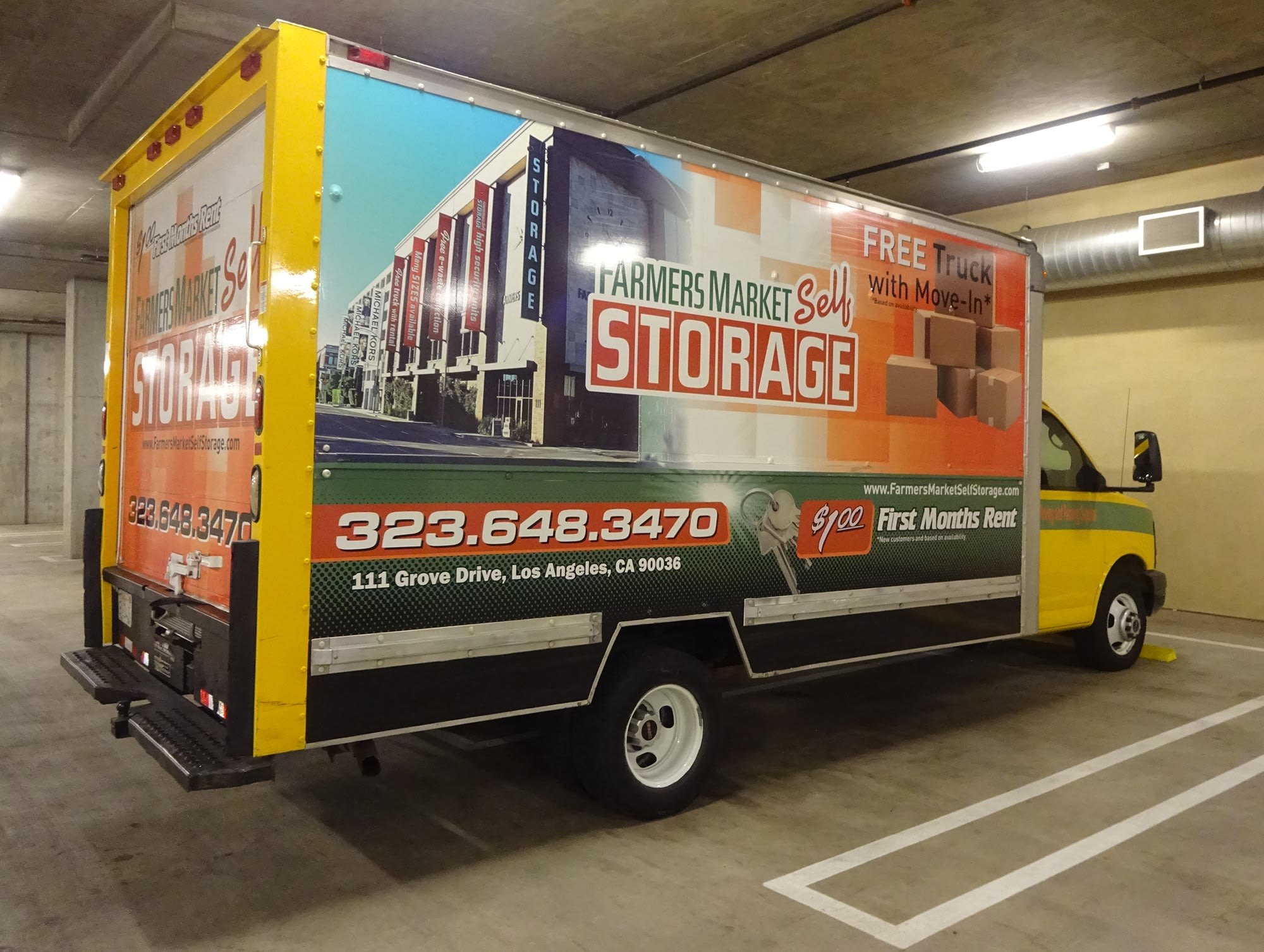 Rental Truck at Farmers Market Self Storage