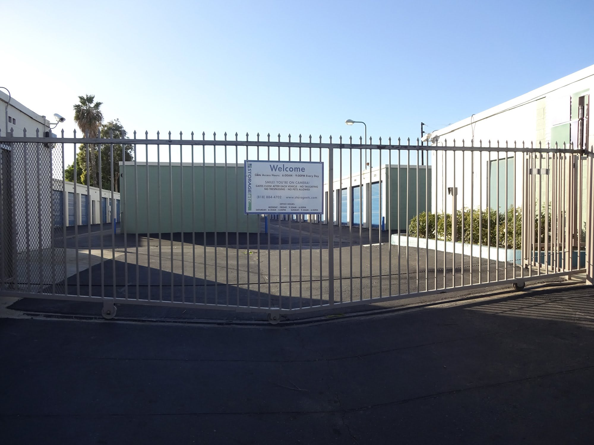 Secure Property Entrance Gate at Storage Etc... Canoga Park