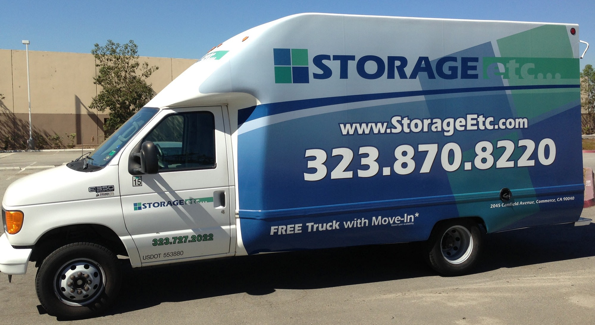 Rental Van at Storage Etc... Commerce