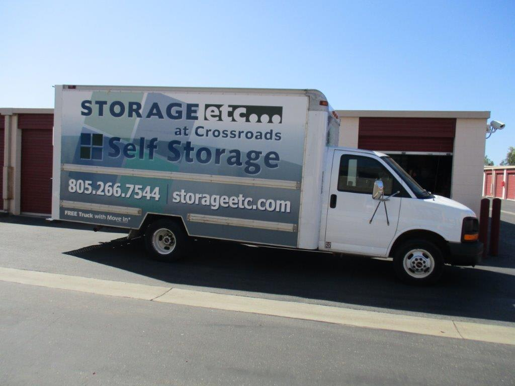 Rental Truck at Storage Etc... at Crossroads