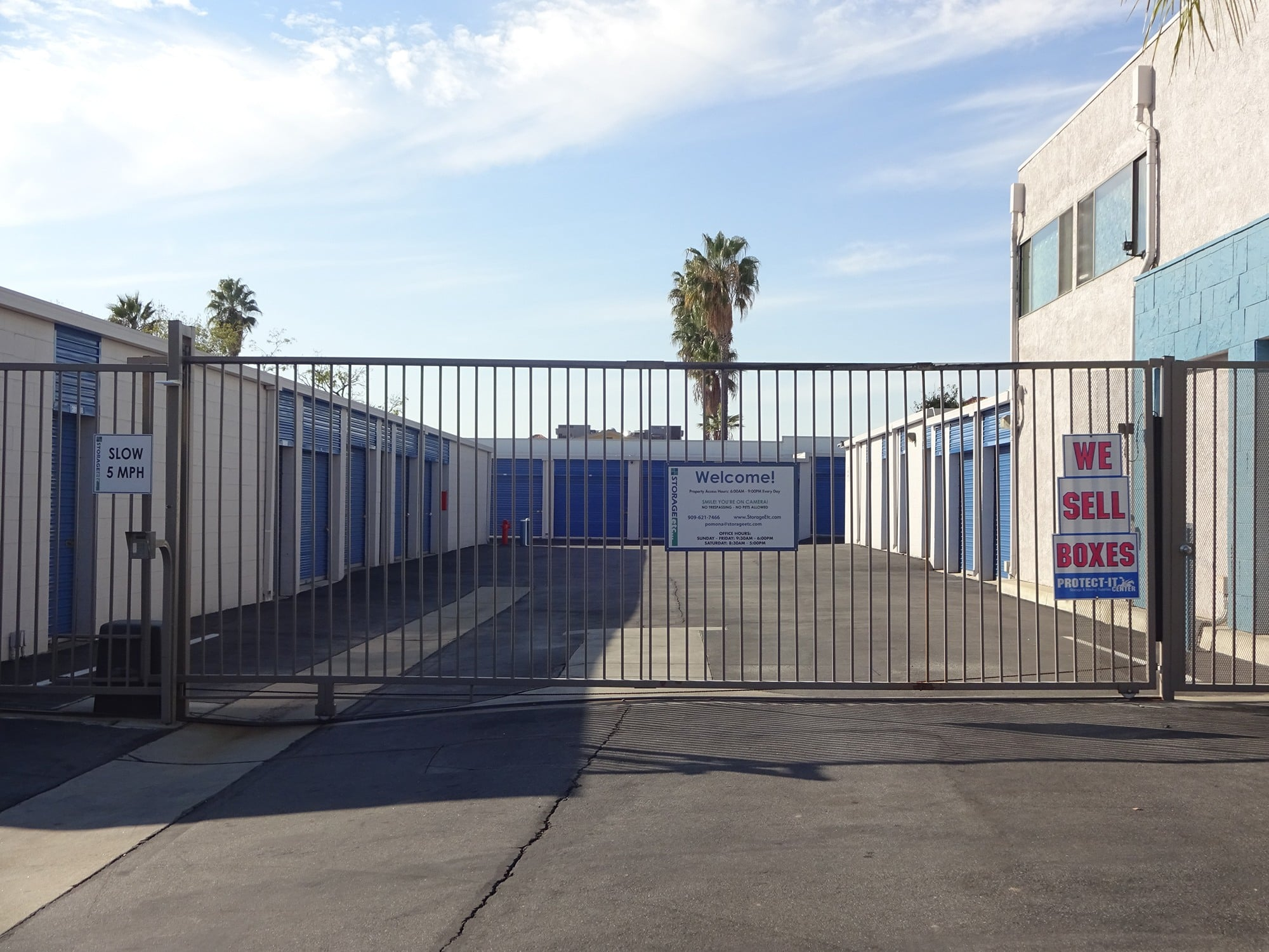 Secure Property Entrance at Storage Etc... Pomona