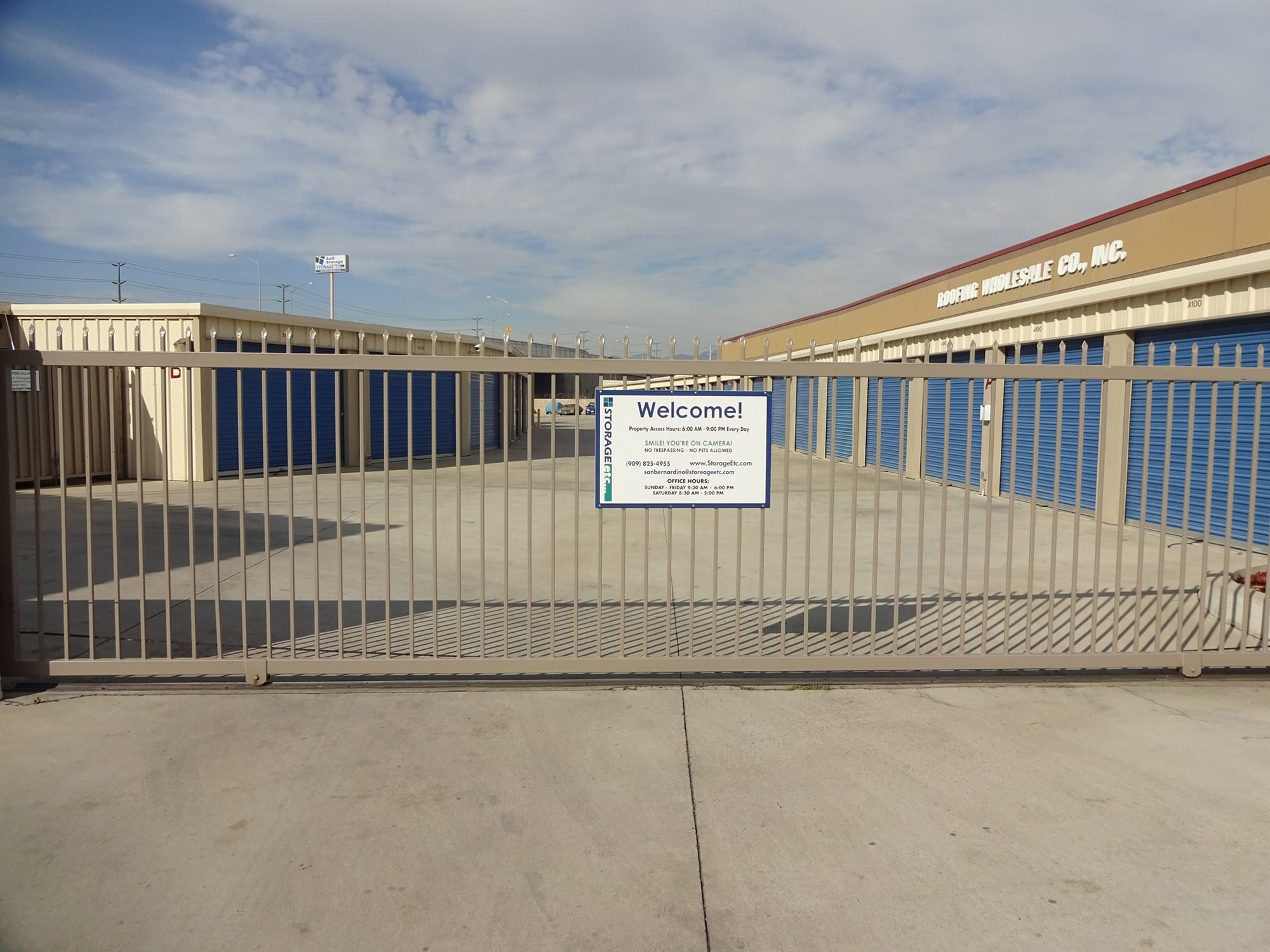Secure Property Entrance at Storage Etc... San Bernardino