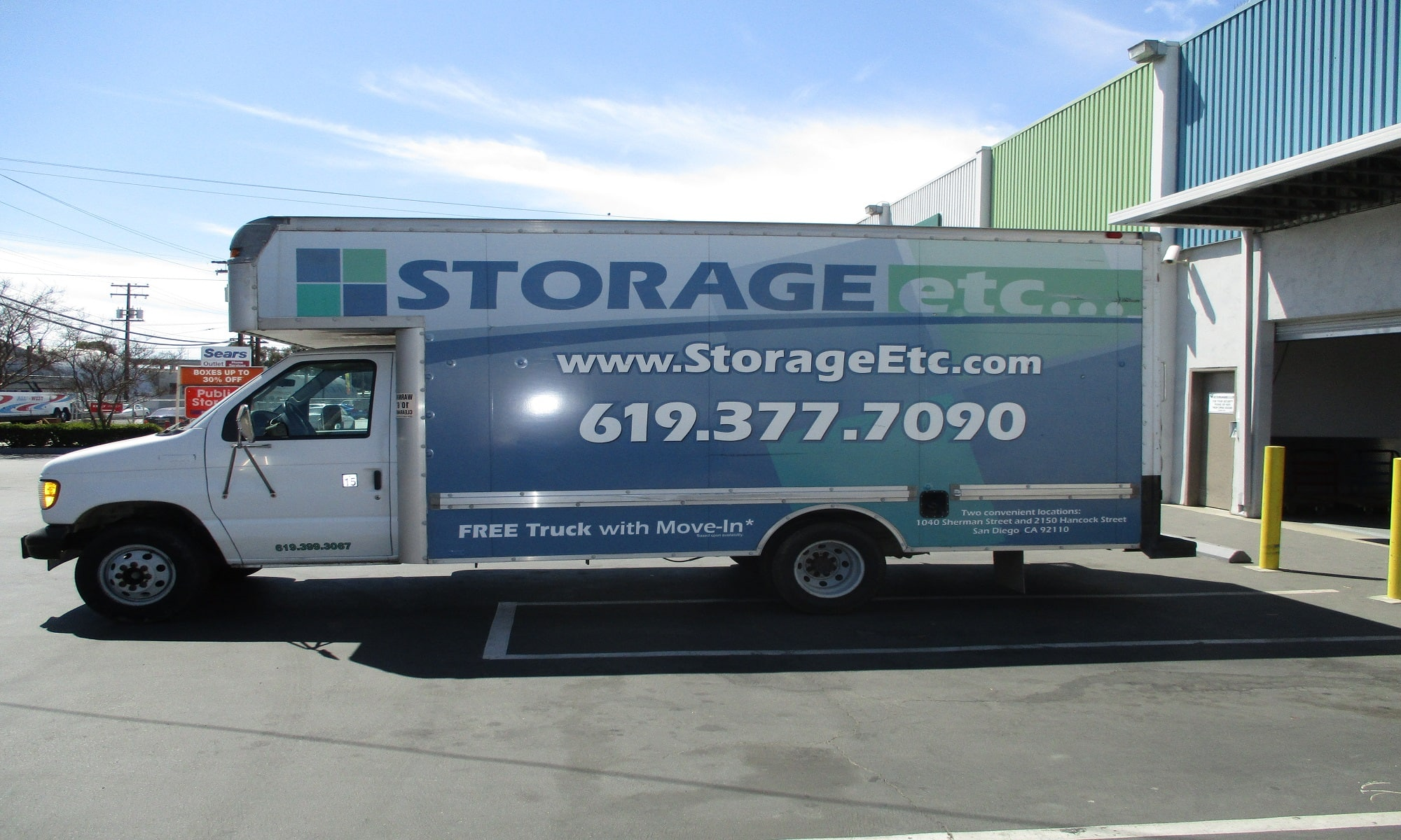 Rental Truck at Storage Etc... Sherman St
