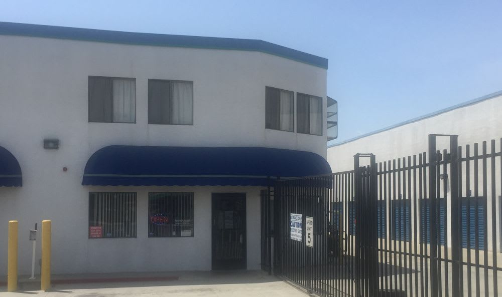 Secure Property Entrance at Huntington Park Self Storage