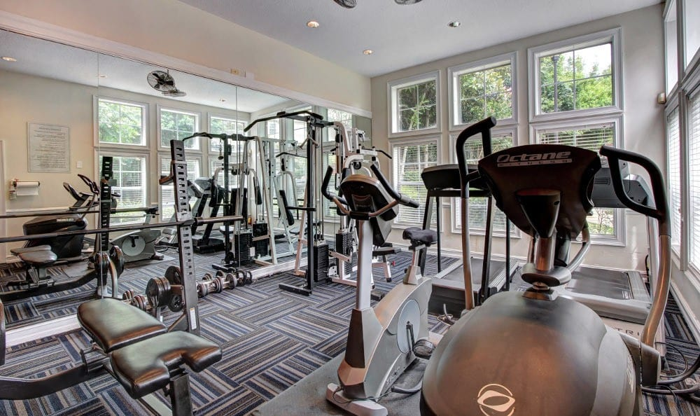Fitness center at Marquis at Briarcliff