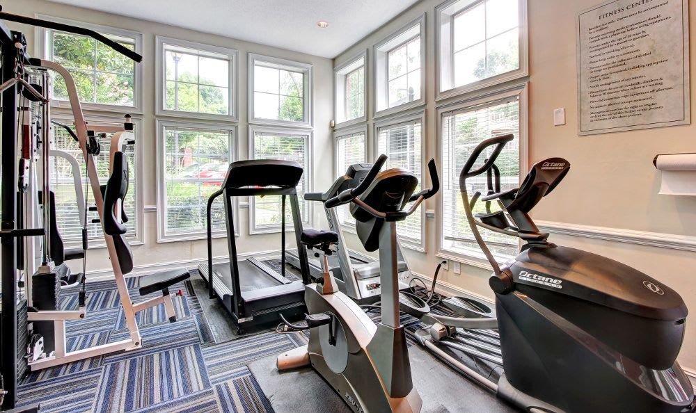 Another view of the fitness center at Marquis at Briarcliff