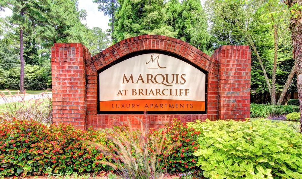 Monument Sign at Marquis at Briarcliff in Atlanta, GA