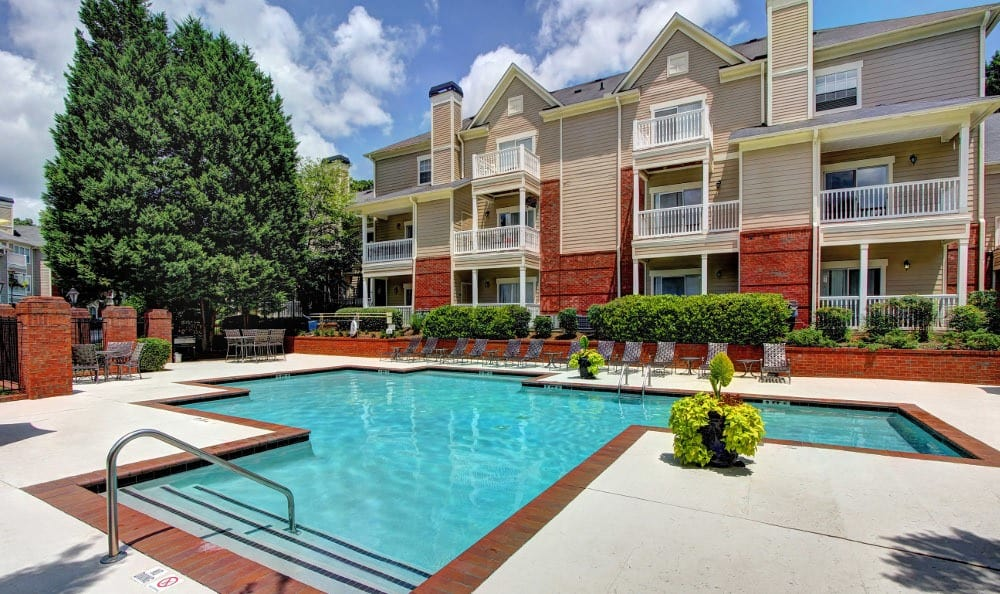 Relax at the swimming pool at Marquis at Briarcliff in Atlanta, Marquis at Briarcliff