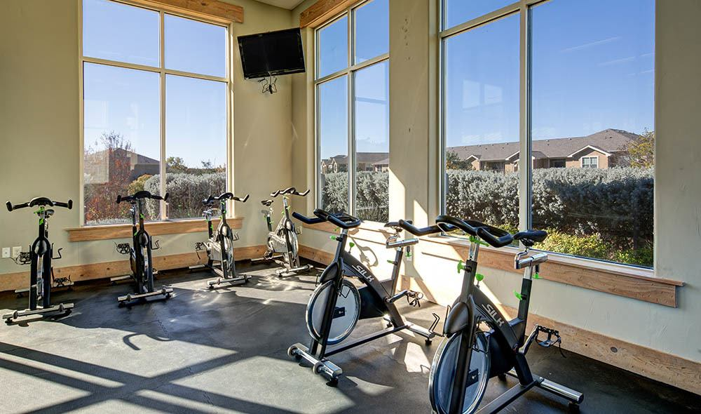 Excercise room at Marquis at Canyon Ridge, Austin
