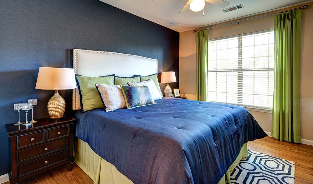 Model bedroom at Marquis at Canyon Ridge