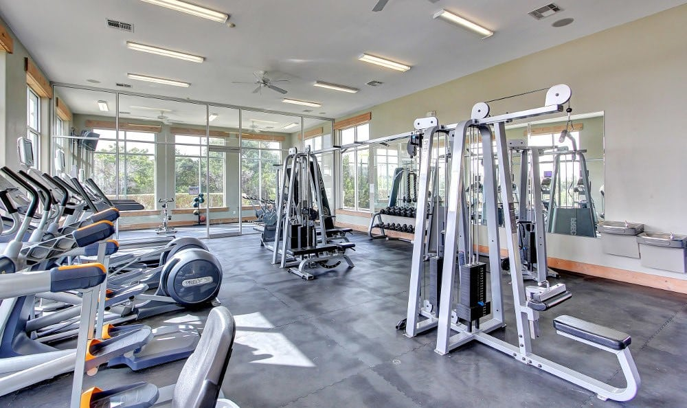 Fitness center at Marquis at Canyon Ridge in Austin, Marquis at Canyon Ridge