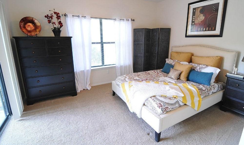 Model bedroom at Marquis at Caprock Canyon