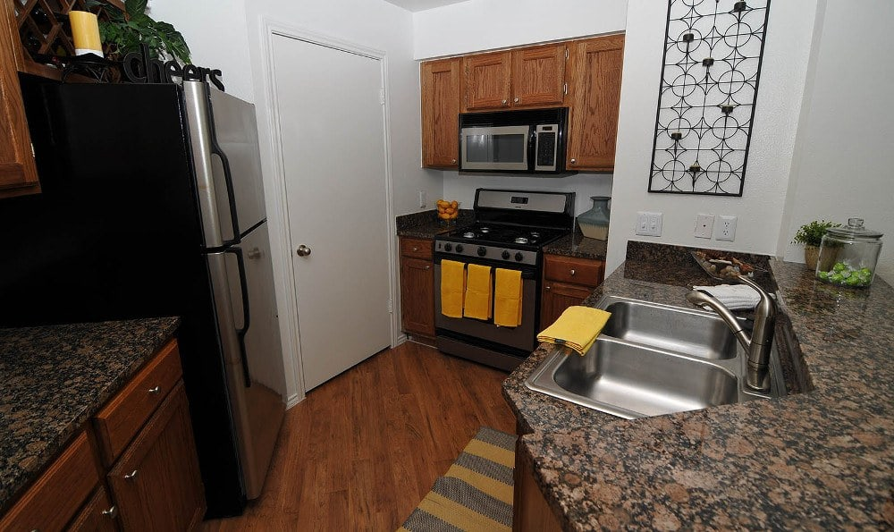Enjoy the counter space in the kitchens Marquis at Caprock Canyon in Austin, Marquis at Caprock Canyon