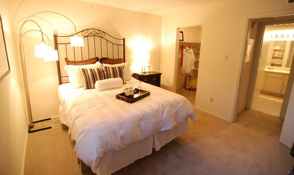 Model bedroom at Northwest Hills