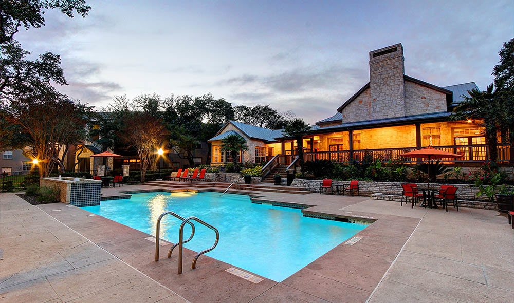 Expansive pool at Marquis at Deerfield, San Antonio